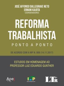 REFORMA TRABALHISTA PONTO A PONTO - 01ED/18