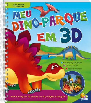 MEU DINO-PARQUE EM 3D - COL. LEIA, MONTE E BRINQUE!