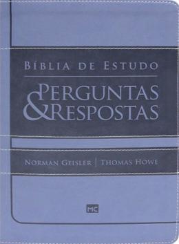 BIBLIA DE ESTUDO - PERGUNTAS E RESPOSTAS