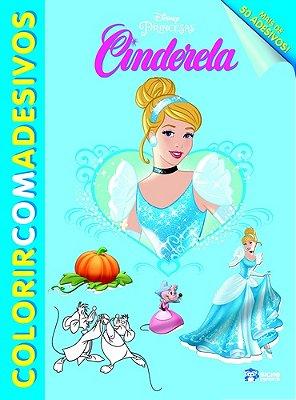 CINDERELA - COL. COLORIR COM ADESIVOS