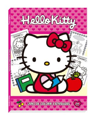 HELLO KITTY - LIVRO DE COLORIR