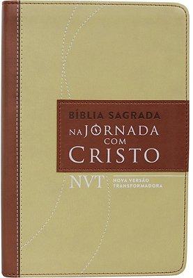 BIBLIA JORNADA COM CRISTO - NVT - MARROM