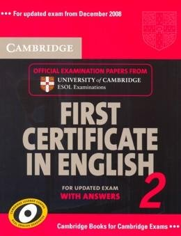 CAMBRIDGE FIRST CERTIFICATE IN ENGLISH 2 SB WITH ANSWERS