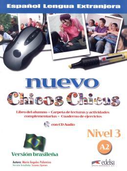NUEVO CHICOS CHICAS 3 - A2 - LIBRO DEL AL.+ EJ. + CD - VERSION BRASILENA