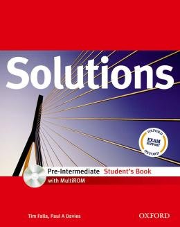 SOLUTIONS PRE-INTERMEDIATE SB WITH CD-ROM - 1ST ED