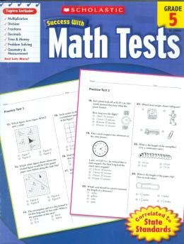 SCHOLASTIC SUCCESS WITH MATH TESTS - GRADE 5