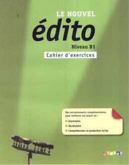 NOUVEL EDITO B1 - CAHIER D´EXERCICES