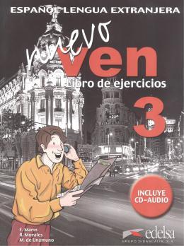 NUEVO VEN 3 LIBRO DE EJERCICIOS + CD AUDIO