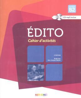 EDITO B2 CAHIER D´EXERCICES + CD MP3 - 3ª ED