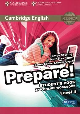 CAMBRIDGE ENGLISH PREPARE! 4 SB WITH ONLINE WB - 1ST ED