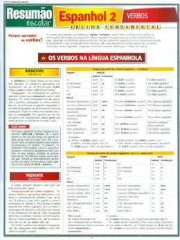 ESPANHOL 2 - VERBOS - RESUMAO