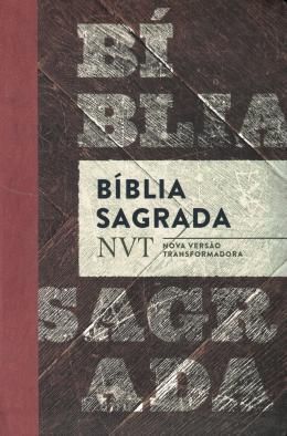BIBLIA SAGRADA NVT - MADEIRA - LETRA NORMAL E FLEXIVEL