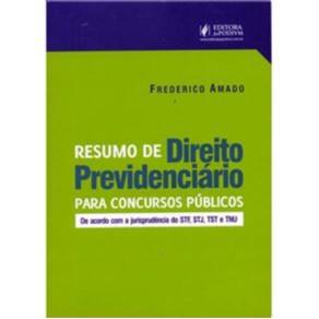 RESUMO DE DIREITO PREVIDENCIARIO PARA CONCURSOS PUBLICOS