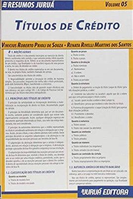 RESUMOS JURUA - DIREITO - TITULOS DE CREDITO-VOLUME 05