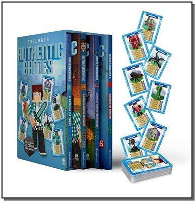 Box Trilogia Authentic Games - 3 Vols + Jogo Batalha de Cartas