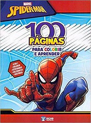 Marvel Spider-Man - 100 Paginas Para Colorir e Aprender