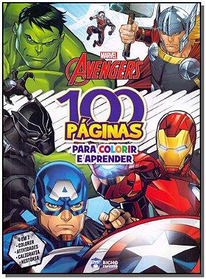 Marvel Avengers-100 Páginas Para Colorir e Aprender