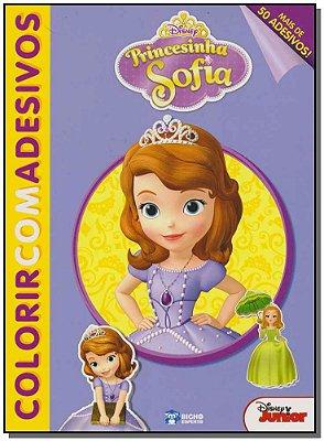 Disney Colorir Com Adesivos - Princesinha Sofia