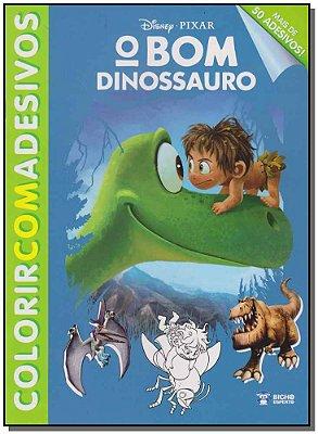 Disney Colorir Com Adesivos - o Bom Dinossauro