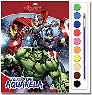 Avengers - Diversão Com Aquarela
