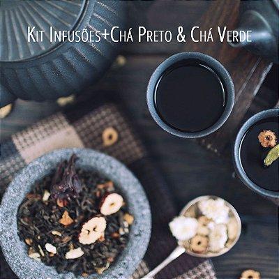 Kit Alquimia - Infusões Brasileiras + Chá Preto e Verde (Completo)
