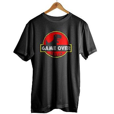Camiseta Dinossauro Pixel Google Jurassic Park