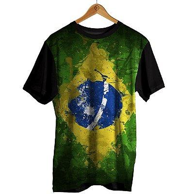 Camiseta Sublimação Bandeira - Brasil