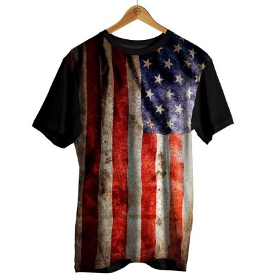 Camiseta Sublimação Bandeira - Estados Unidos