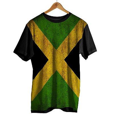 Camiseta Sublimação Bandeira - Jamaica