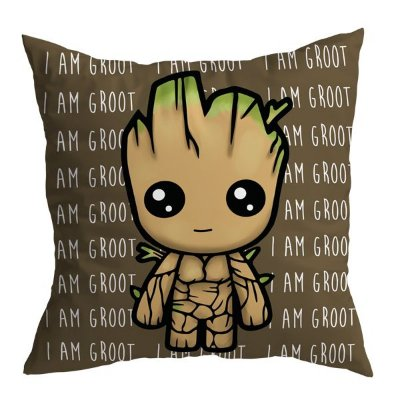 Almofada Groot - Marrom - Marvel