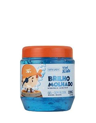 Gel Vini Kids Brilho Molhado Azul 220g