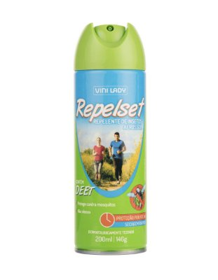 Repelente de Insetos Aerossol Repelset 200ml