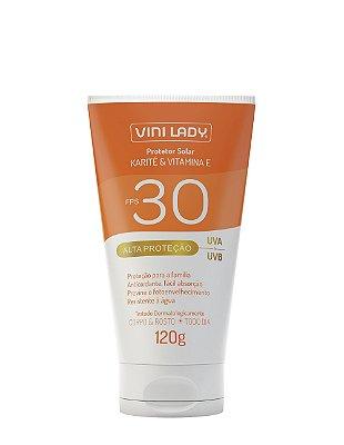 Protetor Solar FPS 30 Corpo e Rosto - Karité e Vitamina E 120g
