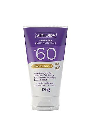 Protetor Solar FPS 60 Corpo e Rosto - Karité e Vitamina E 120g