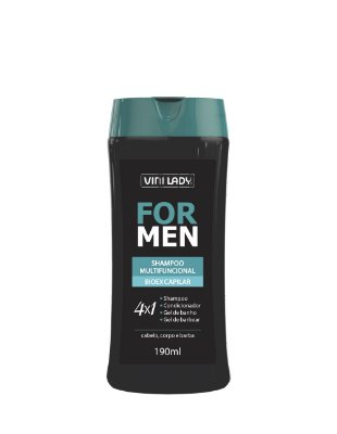 Shampoo For Men Multifuncional 4X1 190ml