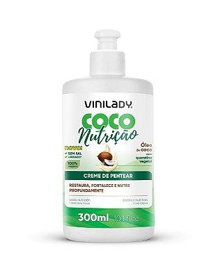 Creme de Pentear Coco Nutrição - Óleo de Coco com Queratina Vegetal 300ml