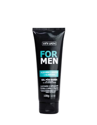 Gel Pós-Barba For Men - Aloe Vera + Mentol + Alantoína 100g