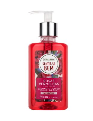Sabonete Líquido Hidratante Sentir-se Bem Rosas Vermelhas 350ml