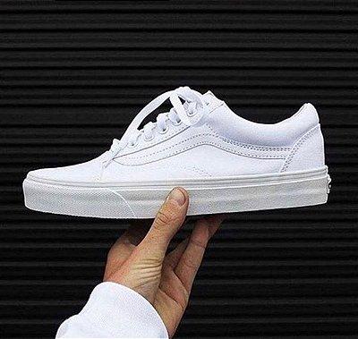 Tênis Vans Old Skool Couro Branco