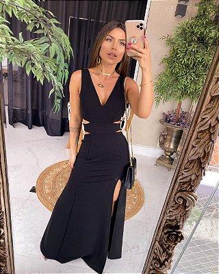 Vestido Longo Rubi Preto