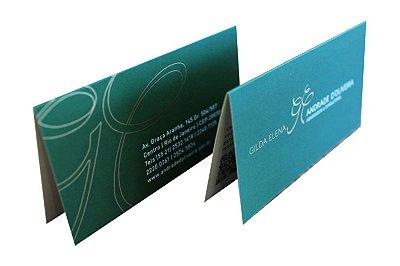 Cartão de Visita Duplo c/ Vinco