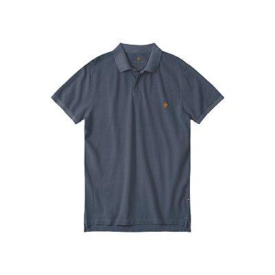 Camisa Polo Masculina Estonada Basis Stone - Marinho
