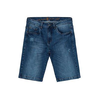 Bermuda Jeans Escuro Masculina Dark Denim Austin - Dark Denim