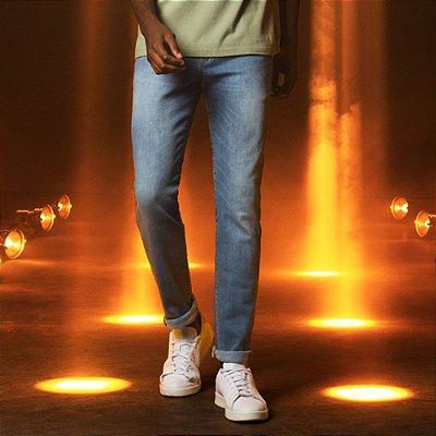 Calça Jeans Azul Médio Skinny Masculina Joe - Medium Denim