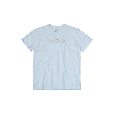 Camiseta Masculina Manga Curta Estampa Holográfica VDV - Branco