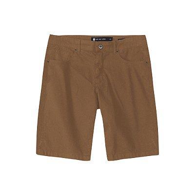 Bermuda de Sarja Color com Elastano Masculina Five Pocket - Caramelo