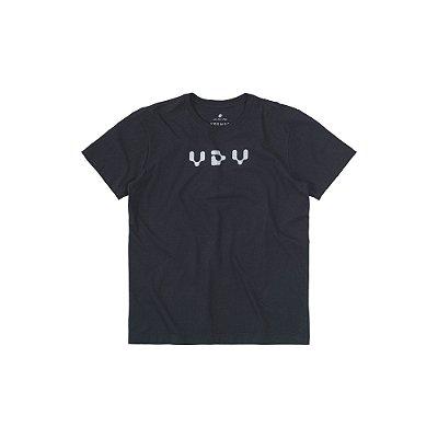 Camiseta Masculina Manga Curta Estampa Holográfica VDV - Preto