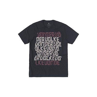 Camiseta masculina estampa lettering Von der Volke - Preto