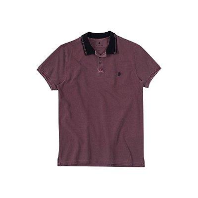 Camisa Polo Masculina Estonada Von der Volke Dusty - Bordo