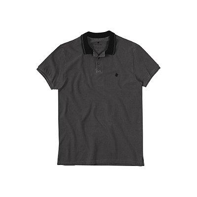 Camisa Polo Masculina Estonada Von der Volke Dusty - Preto